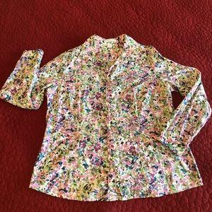 Coldwater Creek watercolor blouse. Size L (14).